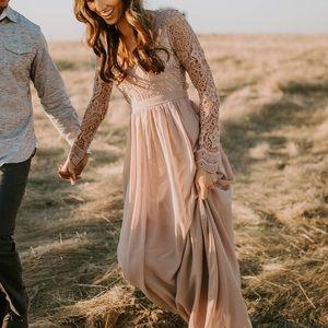 Lulus Awaken My Love Maxi Dress in Dusty Lavender